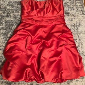 Strapless Coral David's Bridal Dress Size 14